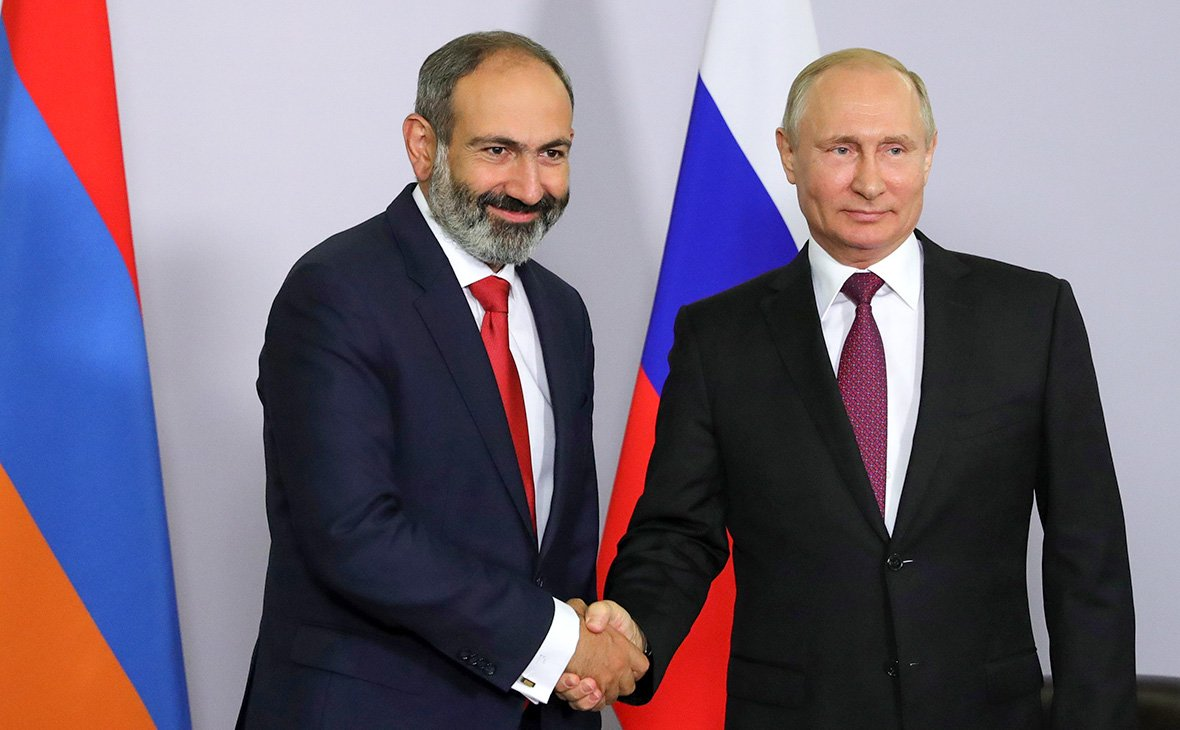 """Инвестиции РФ в экономику Армении: чем Путин """"подкупал"""" Пашиняна на переговорах в Сочи - кадры"""
