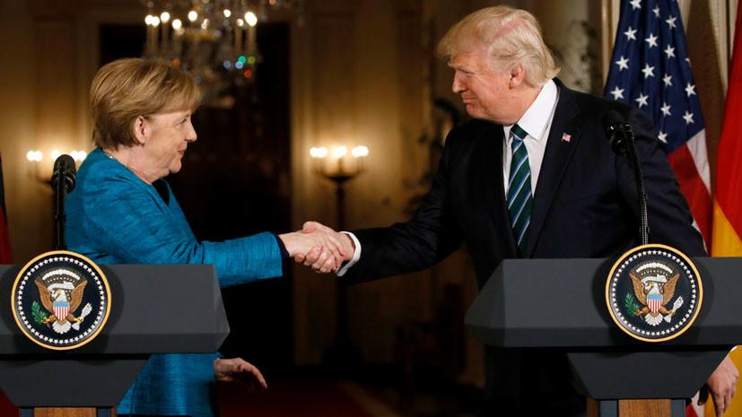 Перед встречей с Путиным Трамп проведет переговоры с канцлером Германии Ангелой Меркель