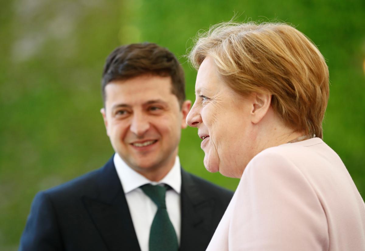 Украина, Политика, Переговоры, Зеленский, Меркель, Телефонный звонок.