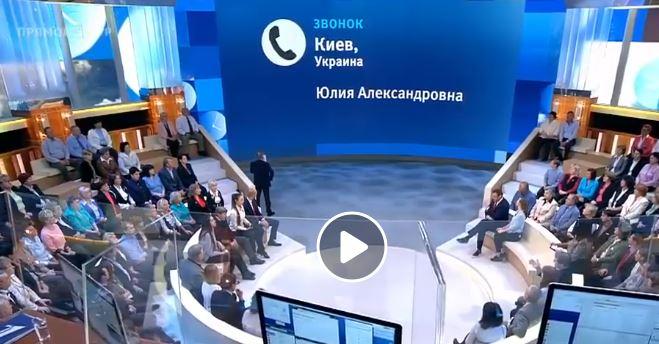 """Плачущая """"киевлянка"""" Юля умоляла на РосТВ защитить церкви УПЦ МП: """"Помогите, мы в Украине очень страдаем"""", - кадры"""