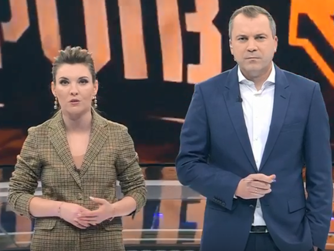 Скабеева и Попов на росТВ устроили громкий скандал из-за шуточной кричалки украинцев времен Майдана