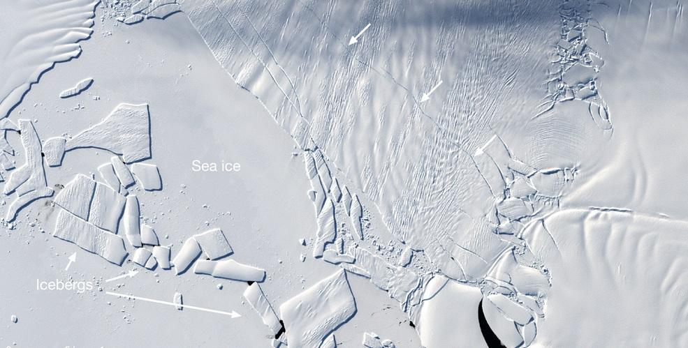 Ученые бьют тревогу: в вечных льдах Антарктиды появилась новая гигантская трещина