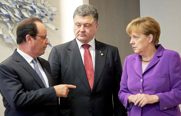 порошенко, меркель, олланд, путин, донбасс, восток украины, переговоры в минске, германия, франция, россия, украина