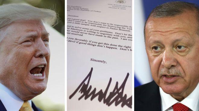 Дональд Трамп США Реджеп Таийп Эрдоган письмо