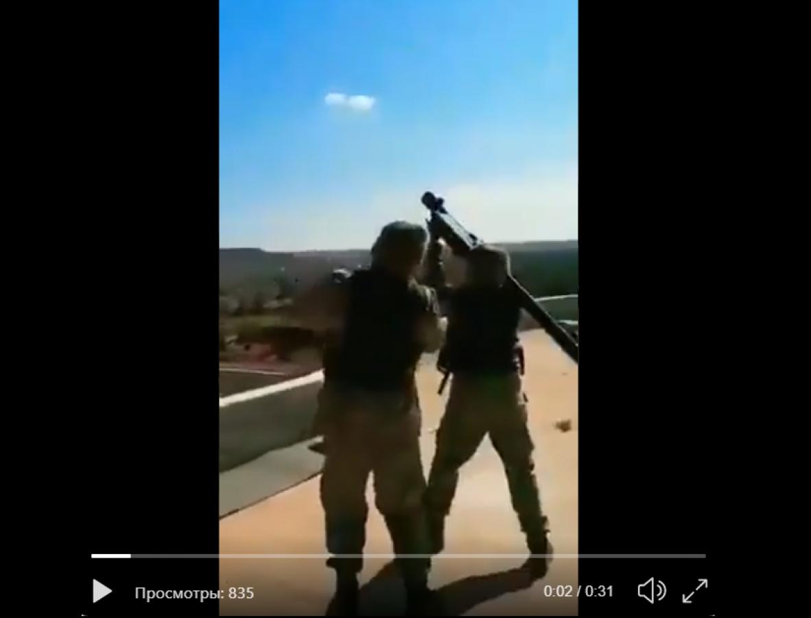 В Идлибе повстанцы открыли огонь ракетой из ПЗРК по Су-24: видео