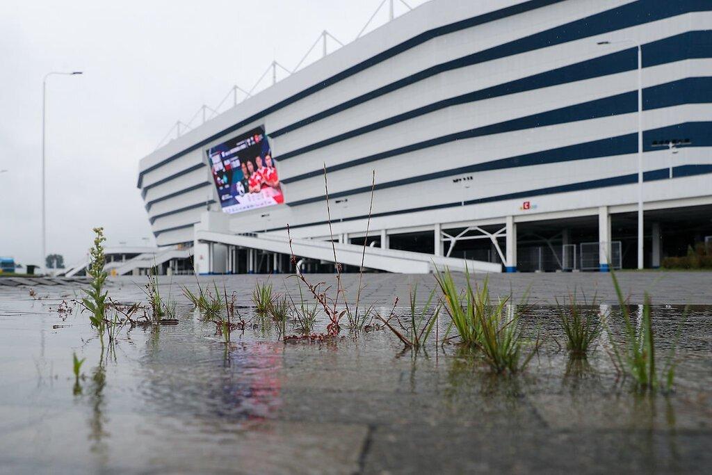 новости, Россия, ЧМ-2018, Калиниград, стадион, проваливается, уходит под землю, болото, проблемы, фото