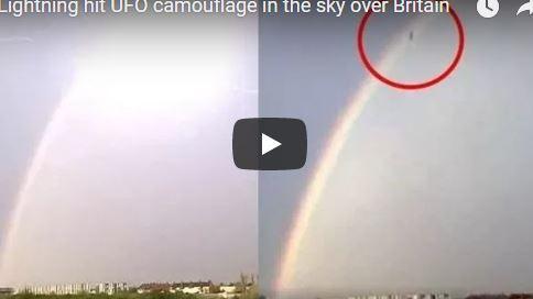 """Сеть поразило видео с молнией, """"сбившей"""" НЛО: кадры вызвали в Интернете ажиотаж"""
