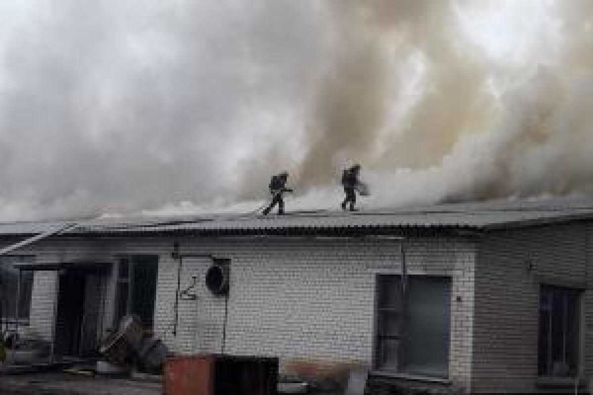 Лисичанск, пожар, стекольный завод