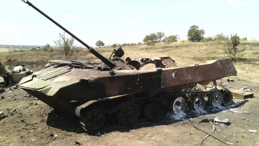 Силы АТО в районе 31-го блокпоста уничтожили танк боевиков, - командование «Пивнич»