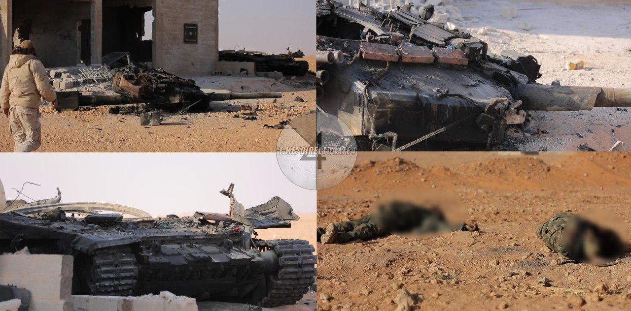 """Такого с Т-90 еще не делали: террористы ИГИЛ разбили """"в хлам"""" в бою российский танк в """"освобожденном"""" кремлевской пропагандой Абу-Камале, - кадры"""