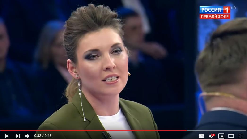 """""""Подавитесь своим Томосом!"""" - видео, как Скабеева закатила громкий скандал из-за Украины в прямом эфире"""