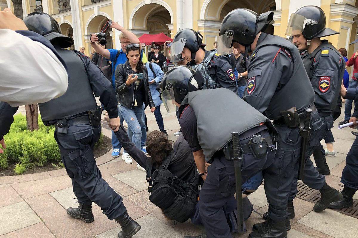 санкт-петербург, протест, бунт, росгвардия, омон