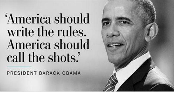 """Громогласное заявление Обамы: """"Другие страны должны играть по правилам, которые устанавливает Америка"""""""