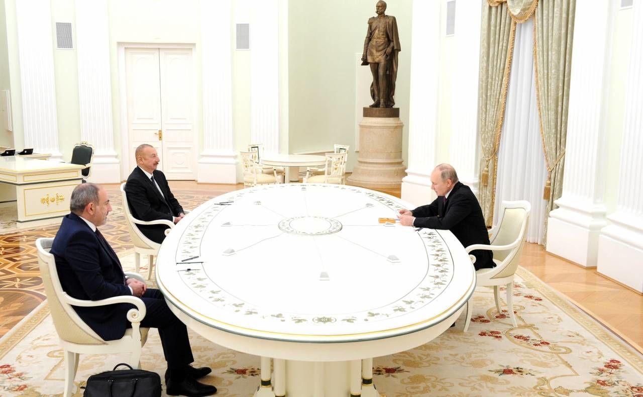 Встреча Алиева, Пашиняна и Путина: о чем договорились в Кремле - документ по Нагорному Карабаху
