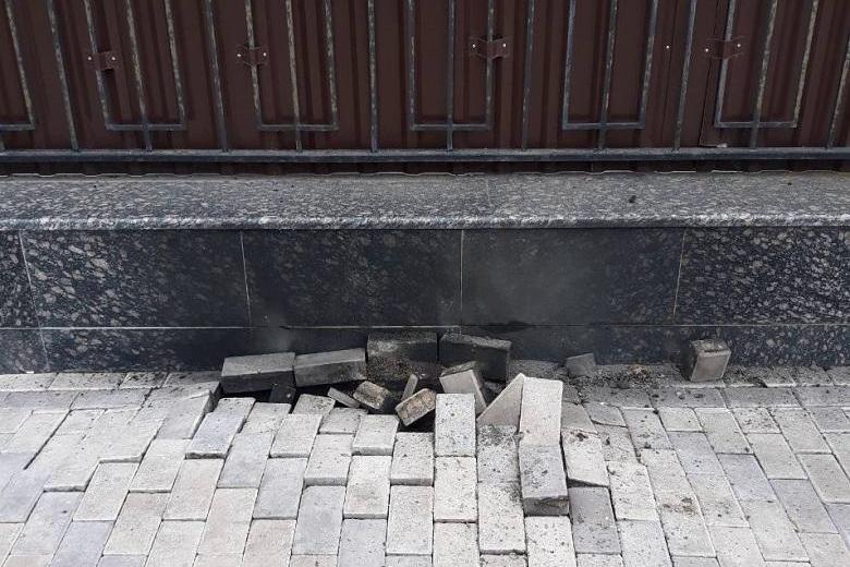 киев, украина, взрыв, посольство, россия, поломка