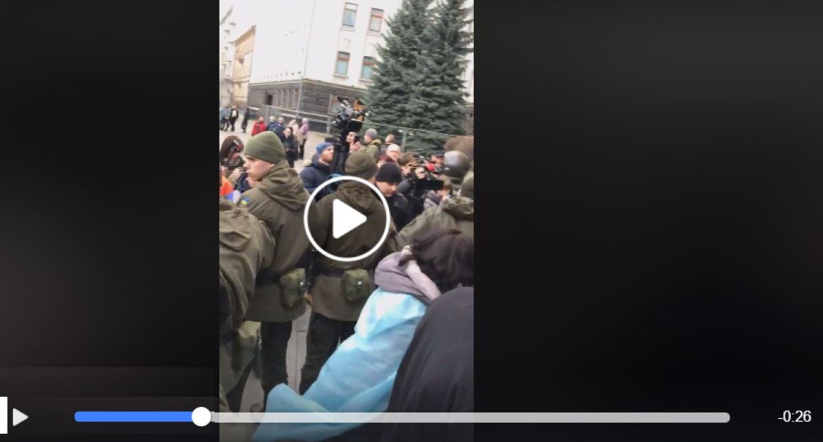 Киев, поджог, офис президента, Зеленский, видео