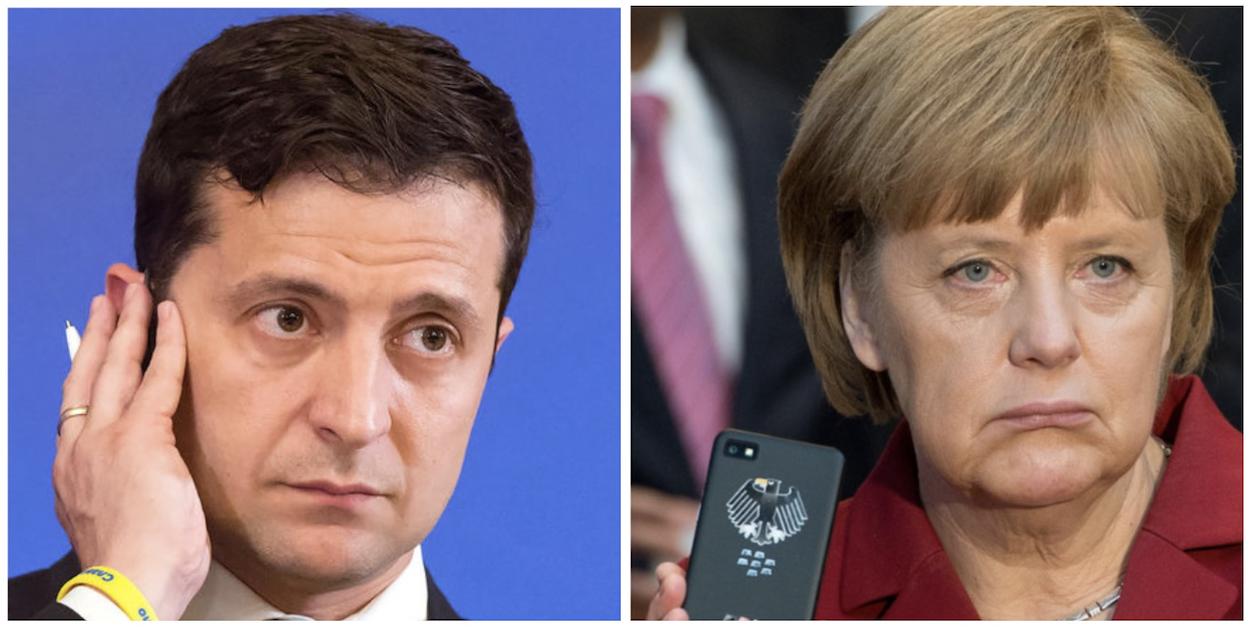 Меркель, зеленский, новости, украина, нормандская четверка, формула Штайнмайера