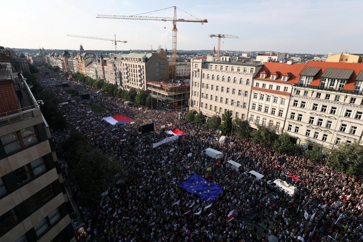 Чехия, Прага, Политика, Протест, Бабиш.
