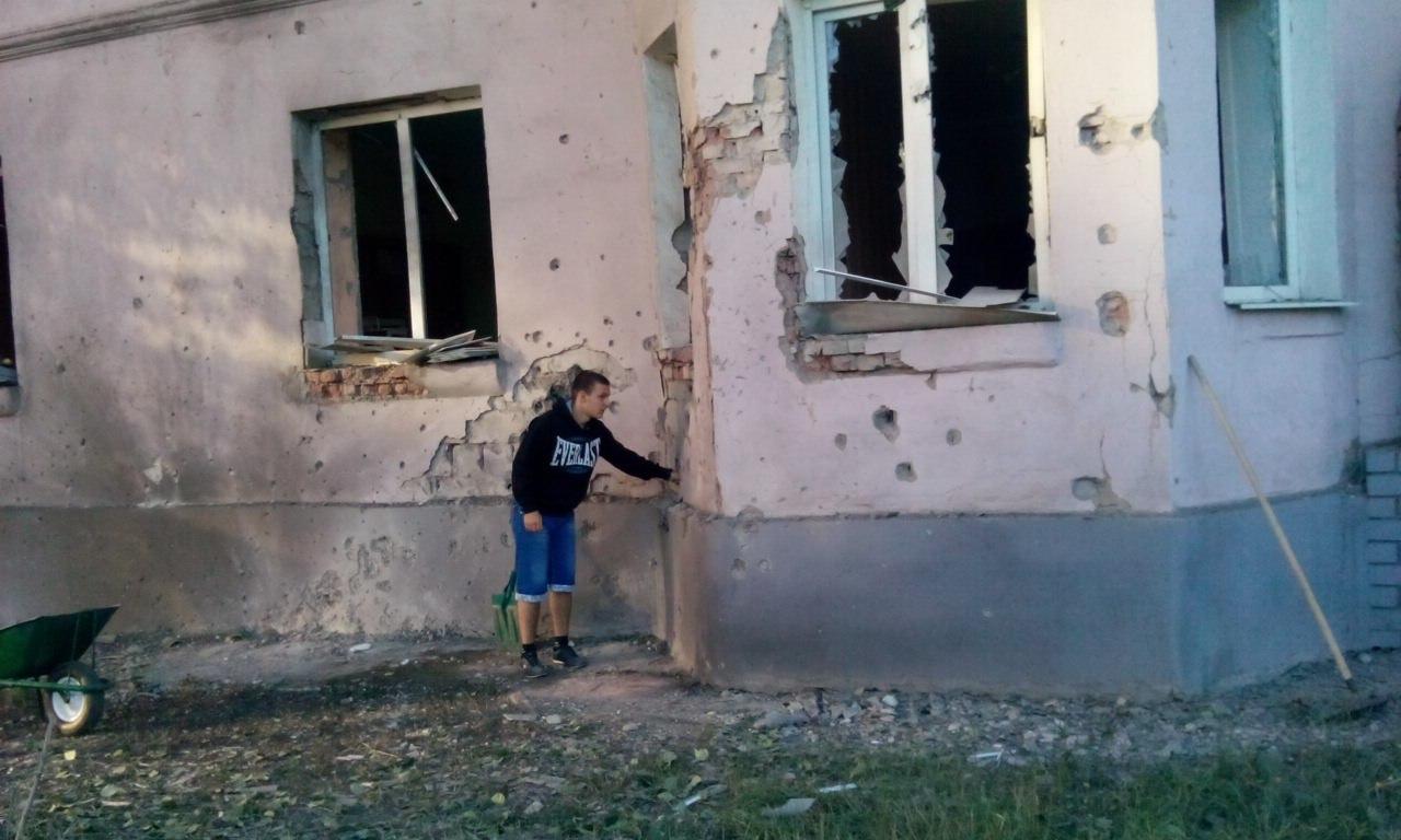 Последствия ночного обстрела Донецка