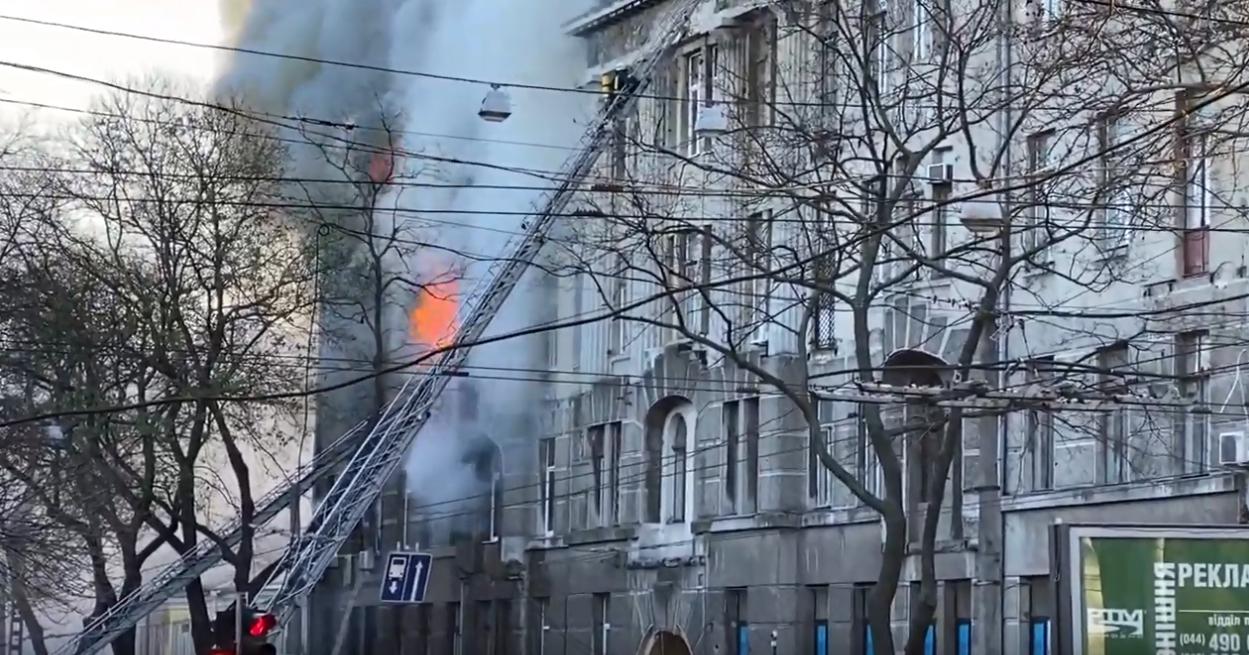 Украина, Одесса, пожар, Происшествие, Колледж, Огонь.