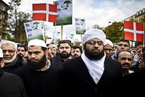 Дания, Копенгаген, мусульмане, акция, солидарность, еврейская община, израильско-палестинский конфликт