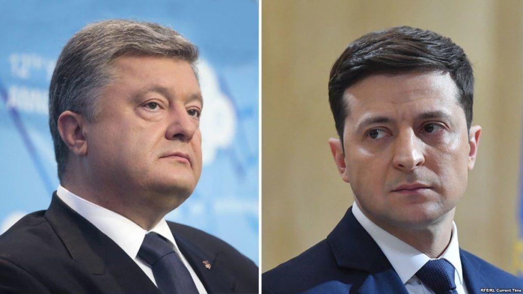 Победитель первого тура: КМИС опубликовал новые рейтинги Зеленского и Порошенко