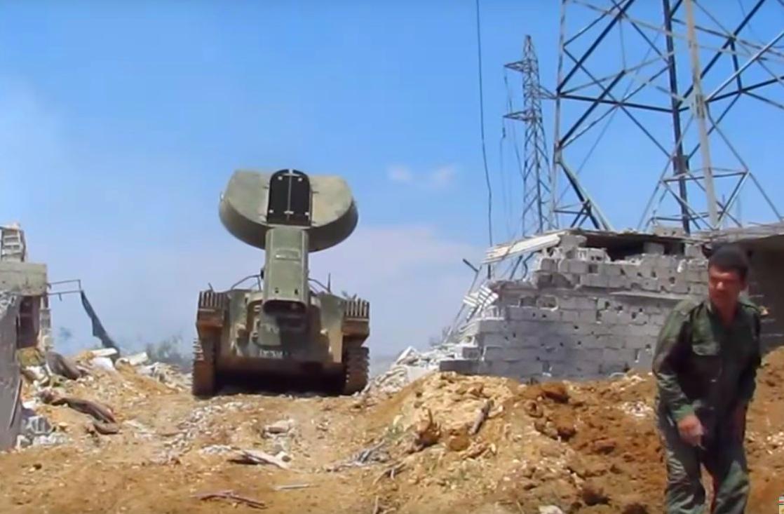 """В Сеть попали кадры работы установки разминирования """"Змей Горыныч"""", с помощью которой армия Асада-Путина уничтожает мирное население Сирии"""
