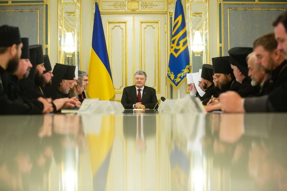 """Сенсационная встреча: """"Мы близки как никогда"""", - Порошенко объяснил настоятелям церквей Украины, почему инициировал создание единой автокефалии"""