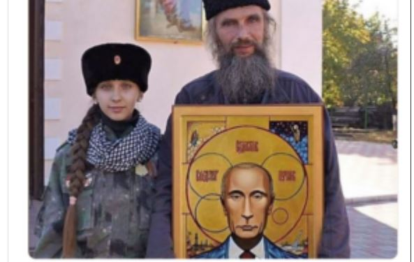 Боевики на Донбассе молятся иконе Владимира Путина