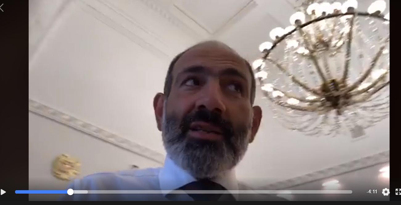 Тайные комнаты и содержимое холодильника: Пашинян показал видео из кабинета премьер-министра Армении