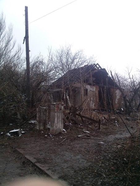 Последствия ночного обстрела Макеевки 09.02.2015