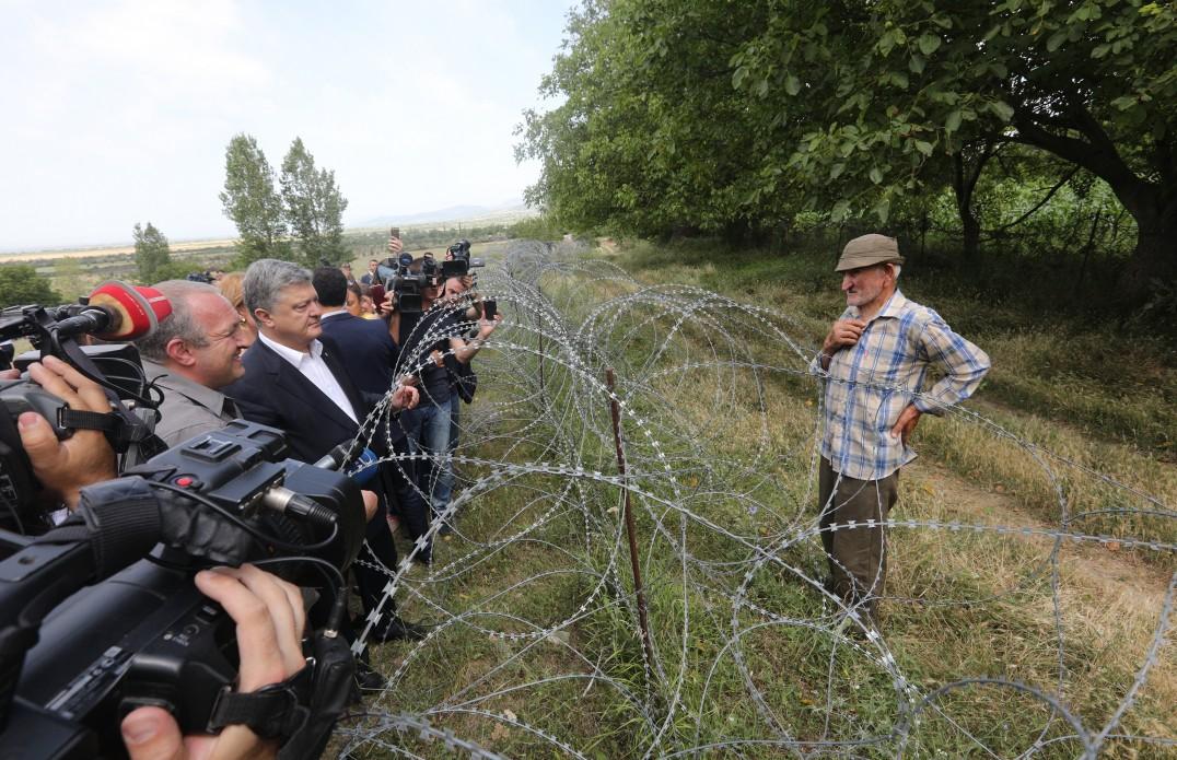 Петр Порошенко заявил, что у Украины и Грузии есть общий агрессор – Российская Федерация - кадры