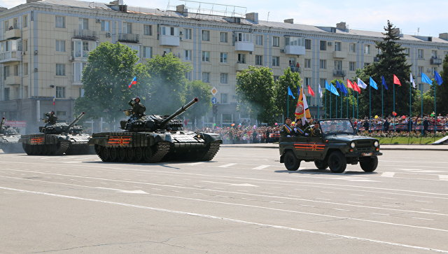ЛНР, ДНР, Луганск, 9 мая, парад, военная техника