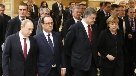"""Итоги переговоров Порошенко, Путина, Меркель и Олланда в """"нормандском формате"""""""