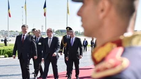 Стартовал первый официальный визит Петра Порошенко в Румынию - пресс-служба Президента Украины