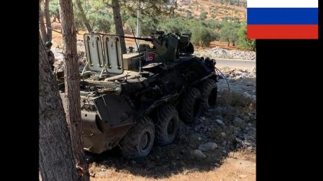 Подрыв колонны российских военных в Идлибе: появились фото бронетехники после взрыва, БТР отбросило на обочину