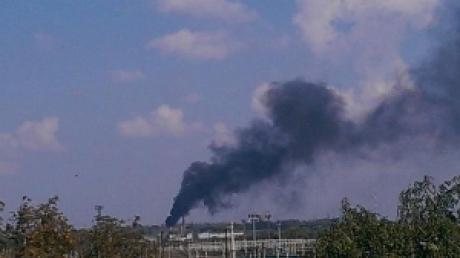 По донецкому аэропорту нанесли удар. В старом терминале пожар