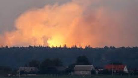 Украина, Ичня, Происшествия, Взрывы, Эвакуация, Перекрытие, Вывоз, Пожарные, Спасатели.