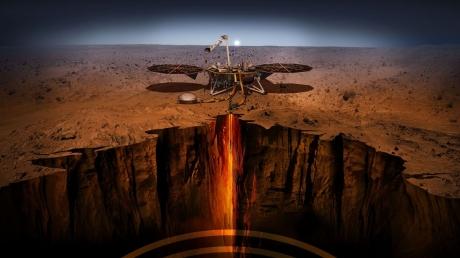 На Марсе совершил успешную посадку аппарат Mars InSight