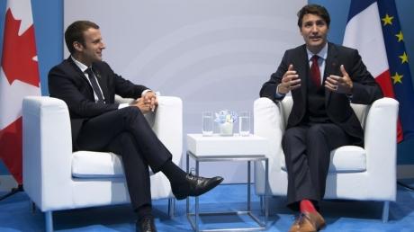 Второй день саммита G20 в Гамбурге: Макрон и Трюдо в ходе личной беседы затронули вопрос событий в Украине
