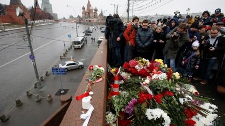Траурный марш в знак памяти Бориса Немцова. Онлайн репортаж