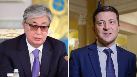 Зеленский от имени украинского народа обратился к президенту Казахстана Токаеву