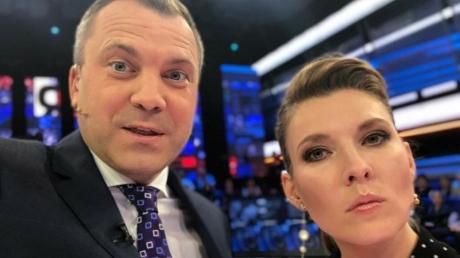 Украинец Трюхан потроллил Скабееву и Попова в прямом эфире - пропагандисты устроили скандал