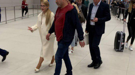 Евровидение Тимошенко аэропорт очевидец заметили коломойский