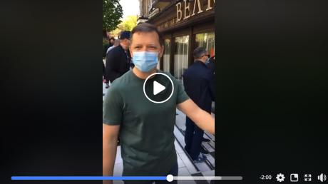 "Ляшко с криком ""вот тебе"" замуровал ресторан ""Велюр"" Николая Тищенко за нарушение карантина, видео"