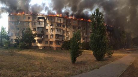 пожар,новая каховка, многоэтажка, поджог