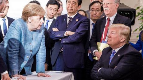 Трамп, Меркель, G7, саммит, встреча, конфеты