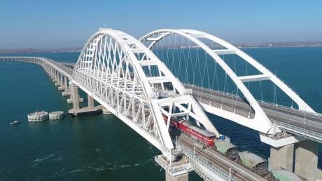 Путин, Крым, мост, железная, дорога, поезд, Москва, Санкт-Петербург