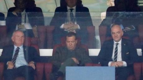 Хорватия, Англия, матч, ЧМ-2018, болельщики, Медведев, спит, уснул