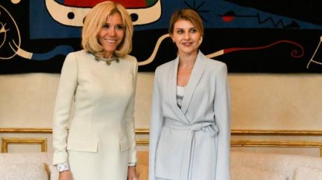 брижит макрон, президент франции, елена зеленская, фото, владимир зеленский, президент украины, первая леди, фото